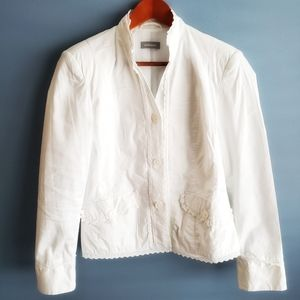 Tops - White blouse lace details size 8
